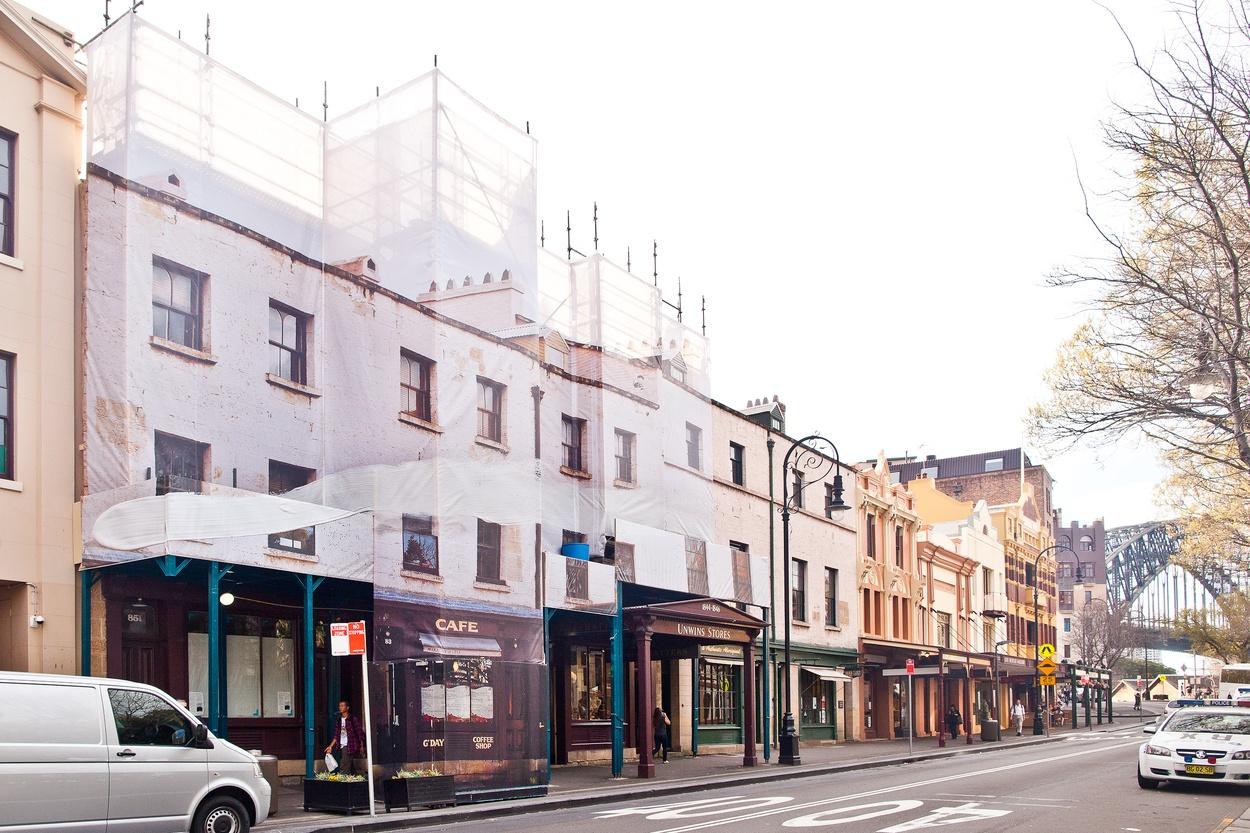 Mike Hewson: Unwin's - Cnr George and Argyle Street, The Rocks, Sydney