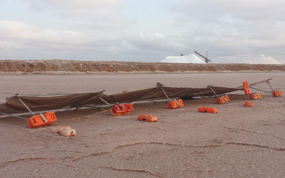 Mike Hewson: (Installation view prior to destruction) - Port Hedland, Western Australia