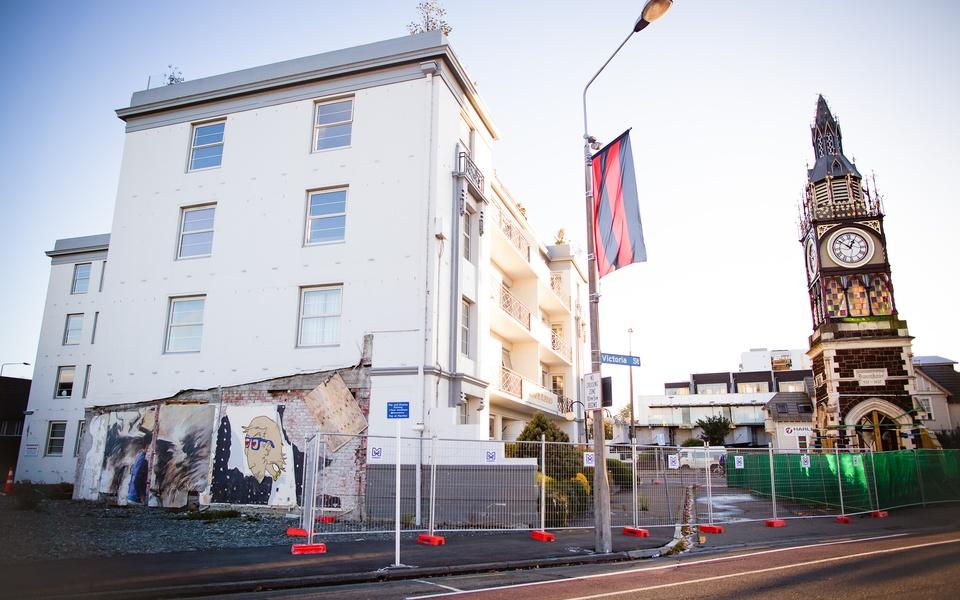Mike Hewson: (Installation view) - Victoria Mansions, Victoria St, Christchurch, NZ