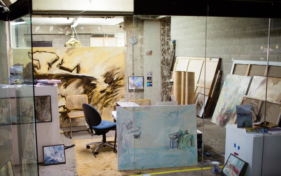 Mike Hewson: Visions Of The View (Studio view) - Shop 25, Rocks Square, The Rocks, Sydney
