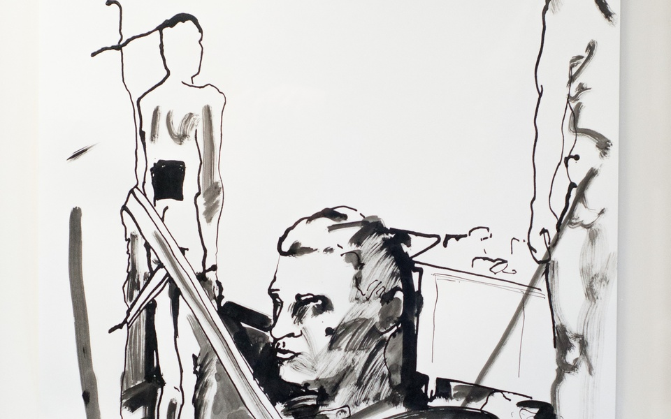 Mike Hewson: Sketch 5 (detail) - Alexis Fine Art, Christchurch, NZ