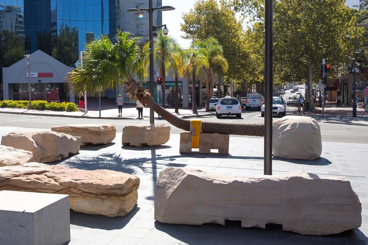 Mike Hewson: Palm Seat (Kembla Street) - Crown Street Mall, Wollongong