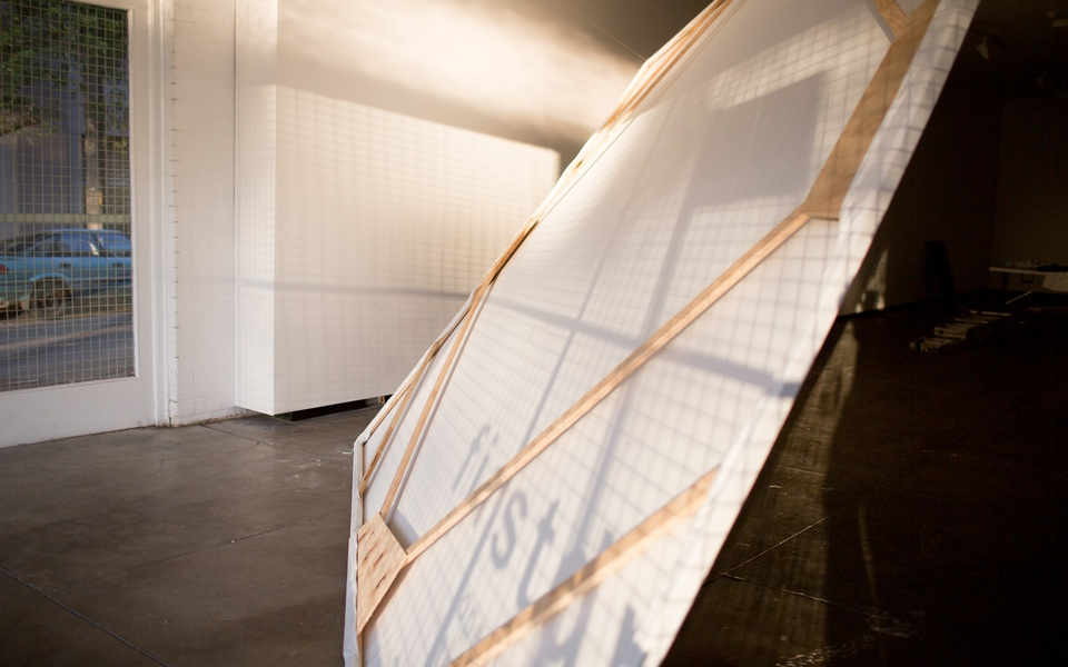 Mike Hewson: (Installation view from rear) - Firstdraft Gallery, Surry Hills, SYDNEY