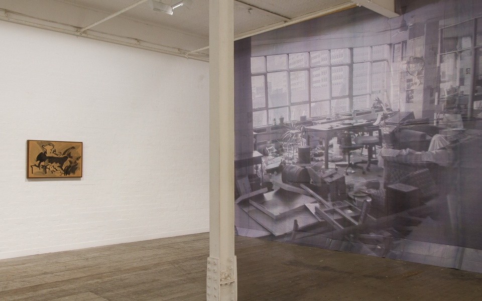 Mike Hewson: Study For Visions Of The View (Installation view) - Flinders Lane, Melbourne, AU