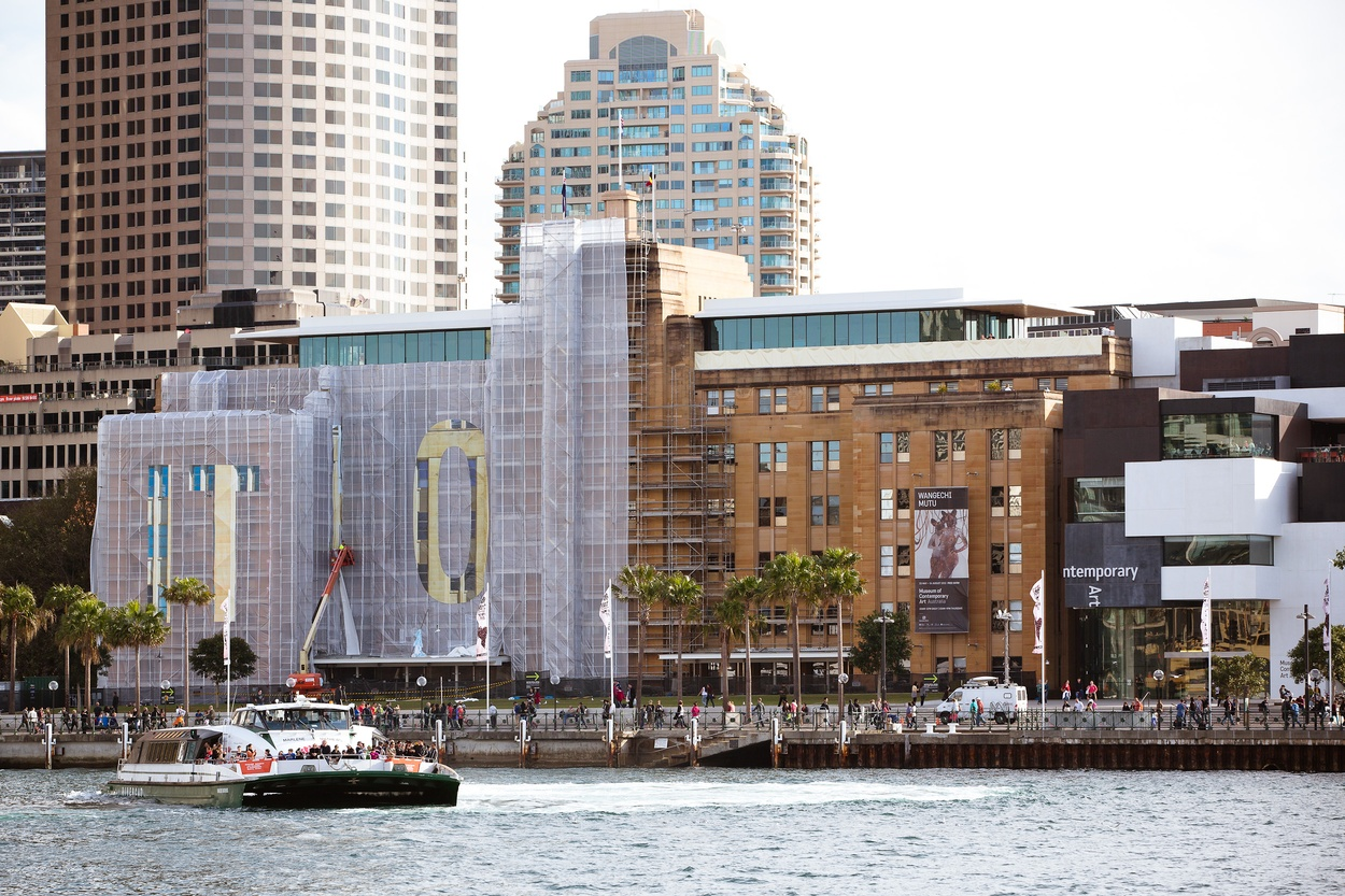 Mike Hewson: (During installation) - Museum of Contemporary Art Australia, The Rocks, Sydney