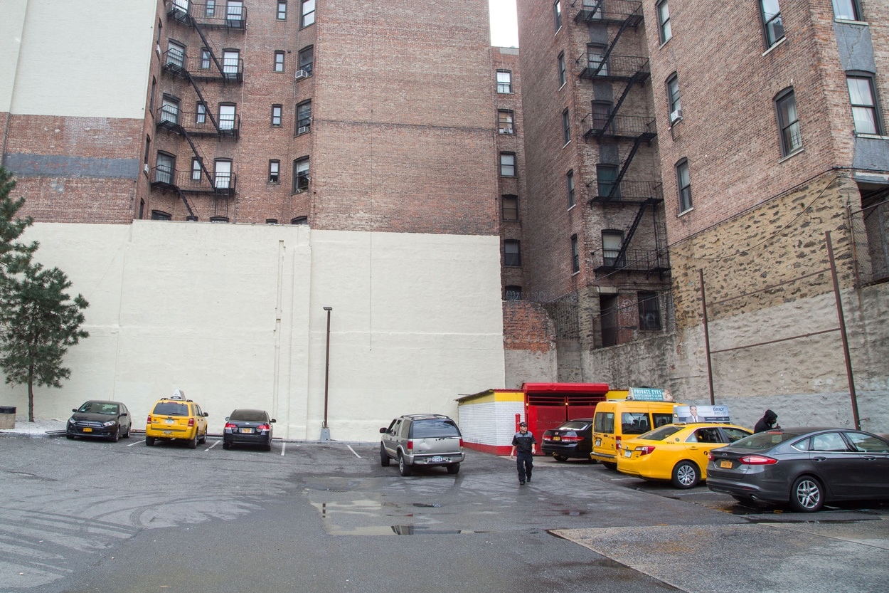 Mike Hewson: (After sign removal) - McDonald's Parking Lot, 125th St and Broadway, Harlem