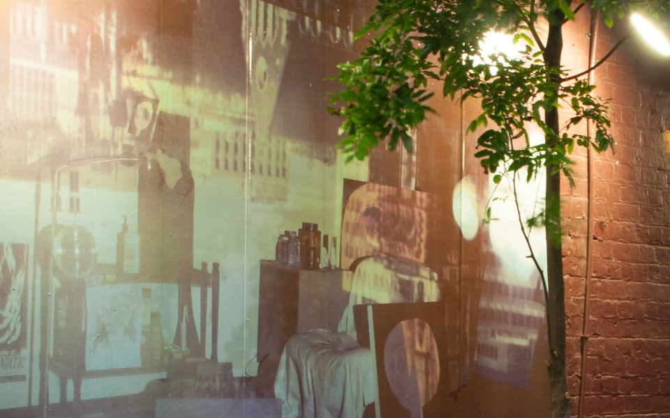 Mike Hewson: Studio Obscura II (detail) - Racket Bar, Roukai Lane, Britomart, Auckland, NZ