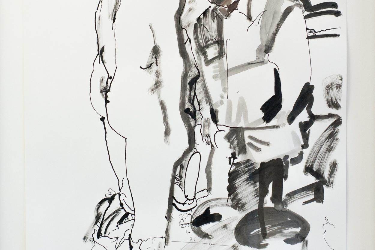 Mike Hewson: Sketch 2 (detail) - Alexis Fine Art, Christchurch, NZ