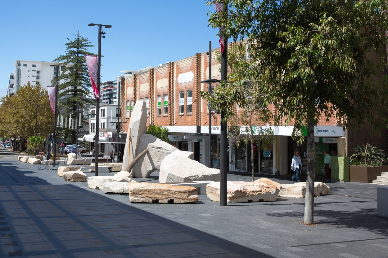 Mike Hewson: Landscape Playground - Crown Street Mall, Wollongong