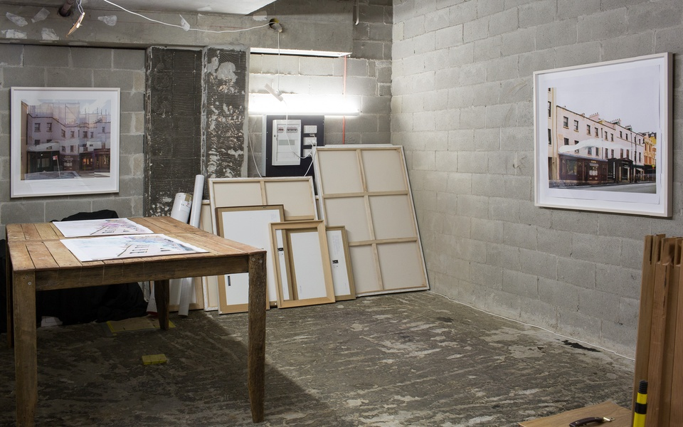 Mike Hewson: (Open studio, installation view) - Shop 25, The Rocks Square, The Rocks, Sydney
