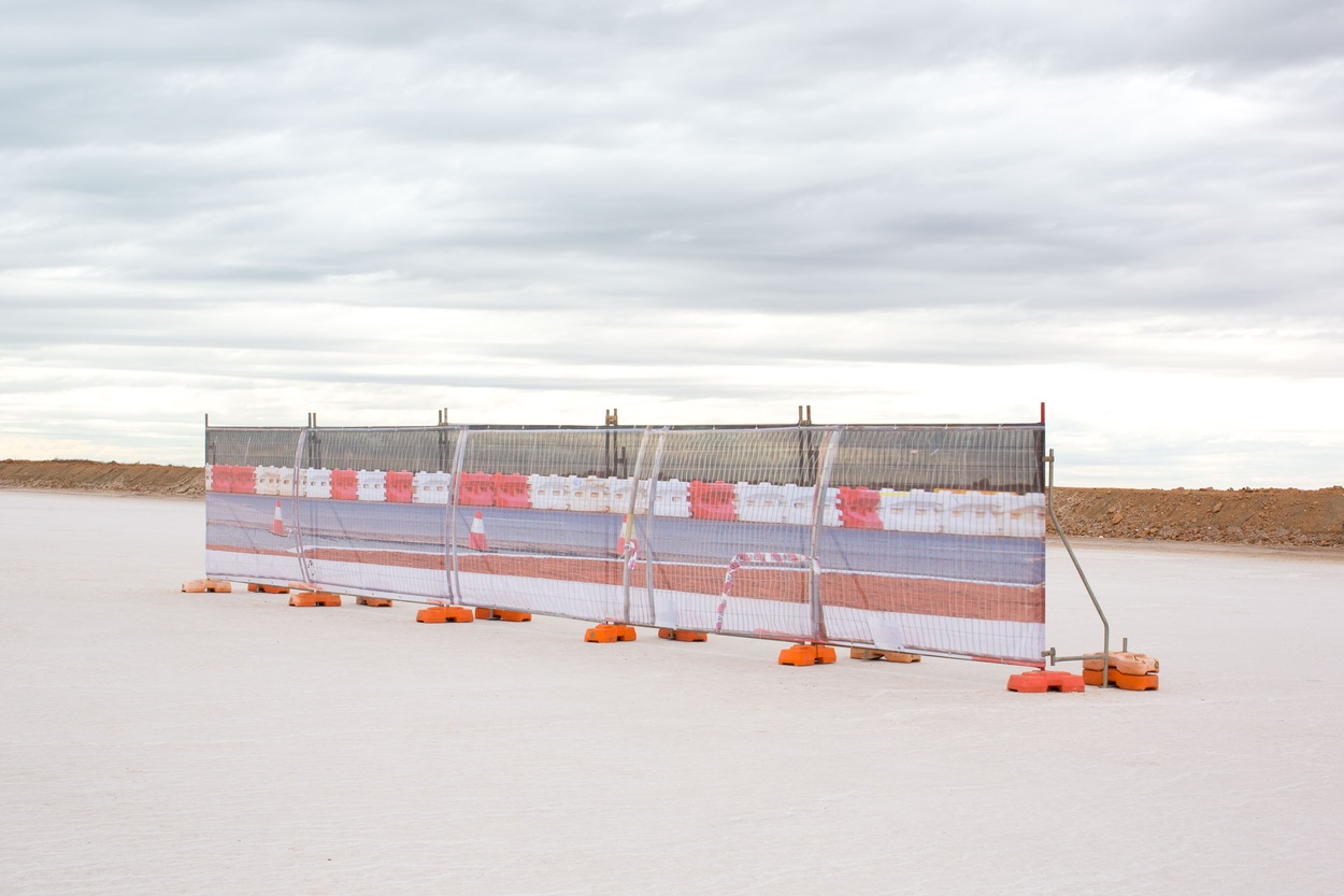 Mike Hewson: Salt Pan Fence - Port Hedland, Western Australia