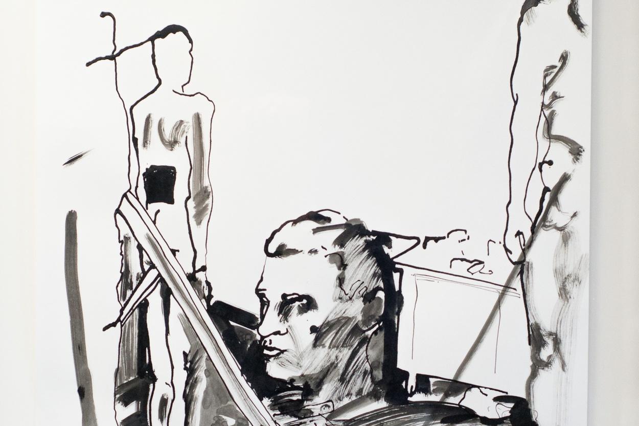 Mike Hewson: Sketch 5 (detail) - Alexis Fine Art, Christchurch, NZ