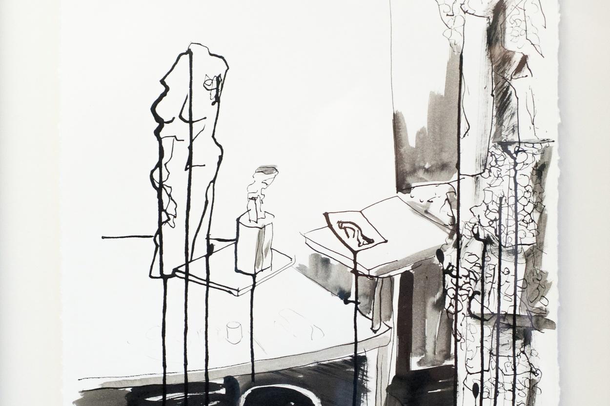 Mike Hewson: Sketch 1 (detail) - Alexis Fine Art, Christchurch, NZ