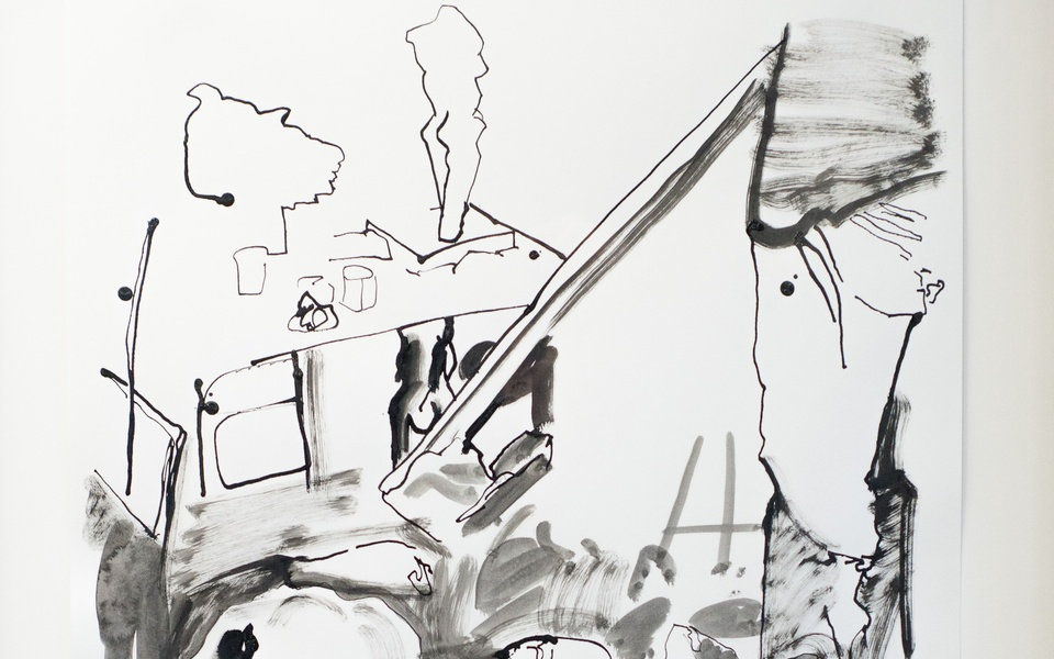Mike Hewson: Sketch 3 (detail) - Alexis Fine Art, Christchurch, NZ