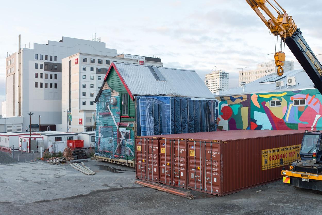 Mike Hewson: (Installation View) (2nd iteration) - Christchurch CBD, New Zealand