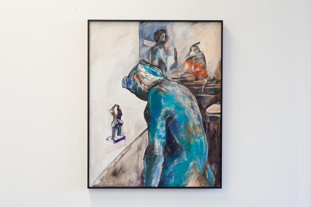 Mike Hewson: Sketch 7 (detail) - Alexis Fine Art, Christchurch, NZ