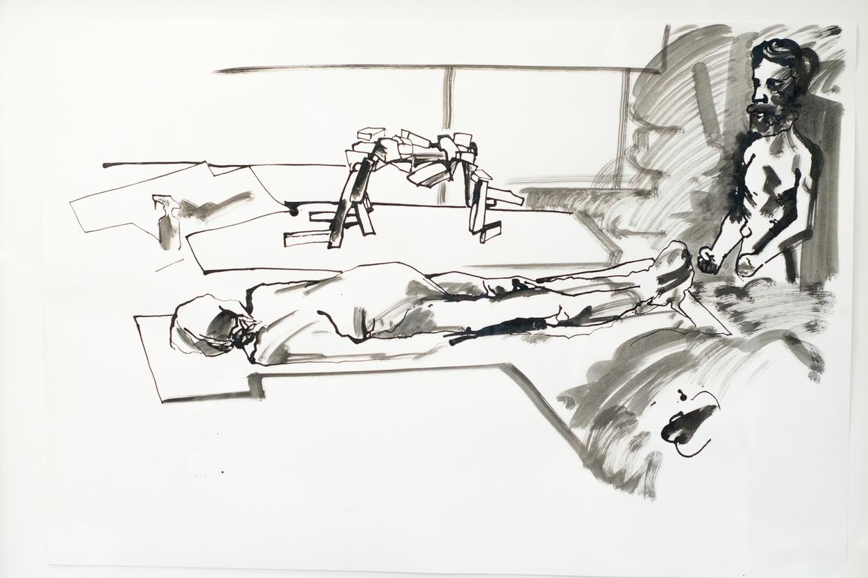 Mike Hewson: Sketch 6 (detail) - Alexis Fine Art, Christchurch, NZ