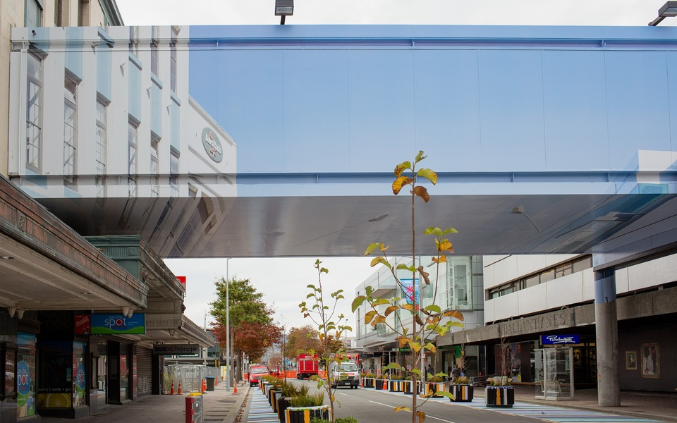 Mike Hewson: (Installation view) - Cnr Colombo St & Cashel Mall, Christchurch, NZ
