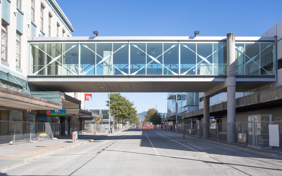 Mike Hewson: Prior to installation of 'Deconstruction' - Cnr Cashel and Colombo Street, Christchurch, NZ