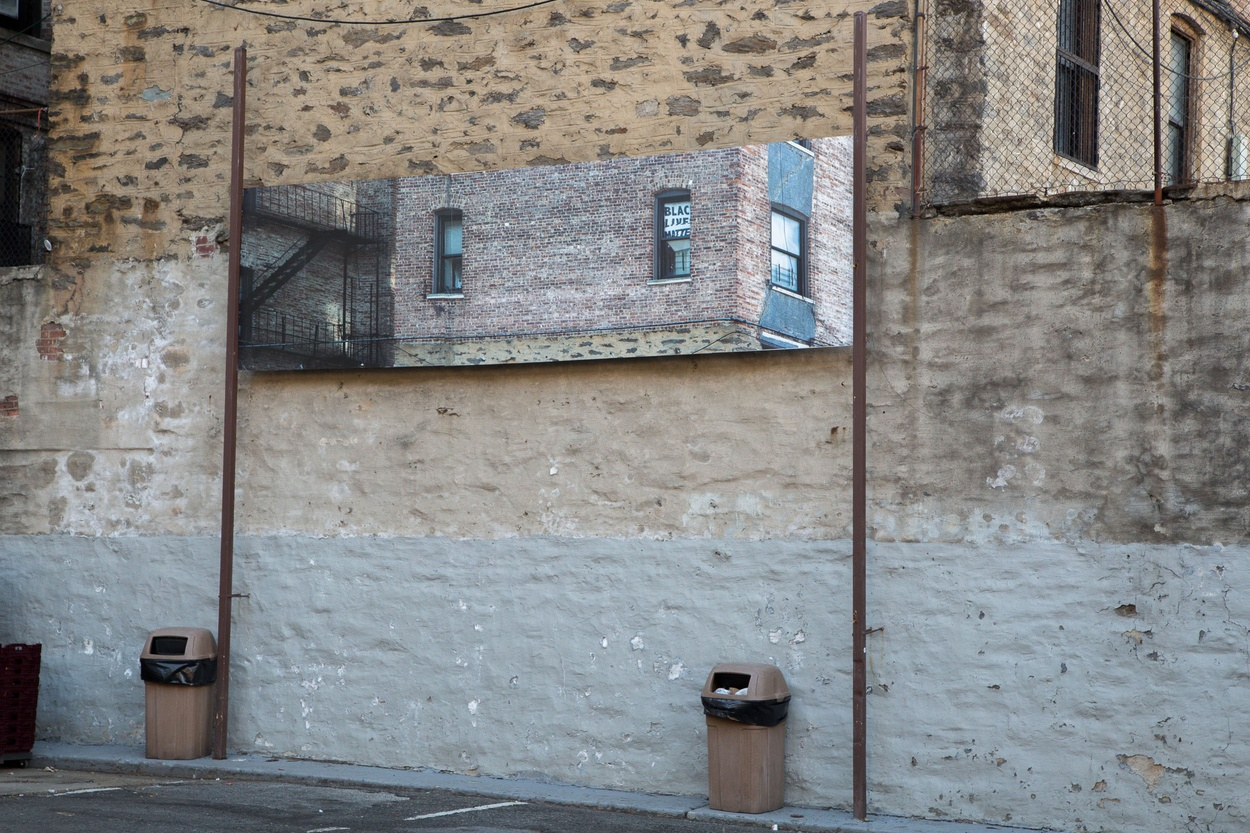 Mike Hewson: (Installation View) - McDonald's Parking Lot, 125th St and Broadway, Harlem