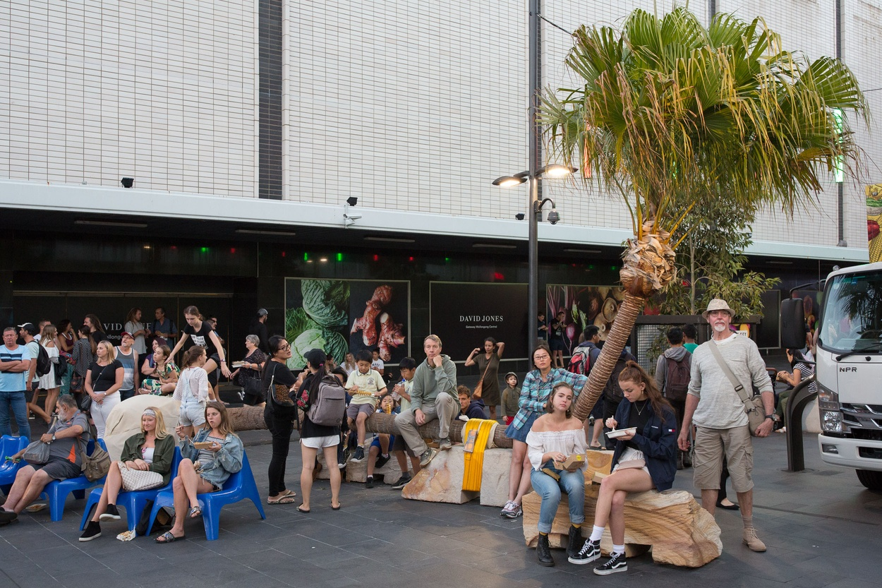 Mike Hewson: Palm Seat (Church St) - Crown Street Mall, Wollongong