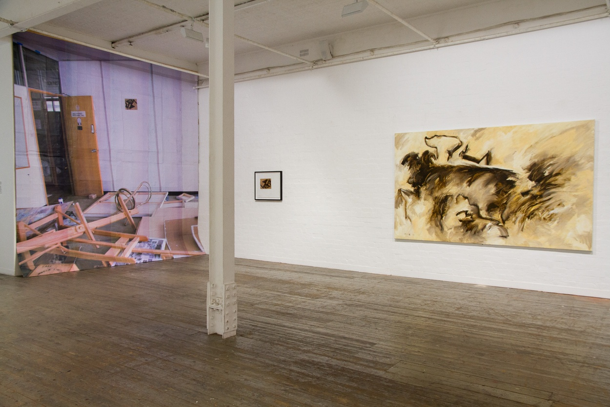 Mike Hewson: Visions Of The View (Installation view) - Flinders Lane, Melbourne, AU
