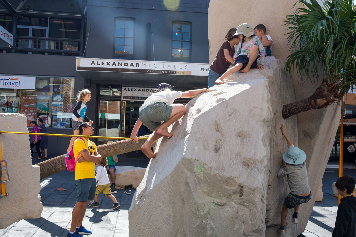 Mike Hewson: Landscape Playground (installation view) - Crown Street Mall, Wollongong