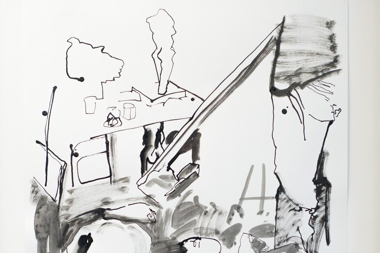 Mike Hewson: Sketch 3 (detail) - Alexis Fine Art, Christchurch, NZ
