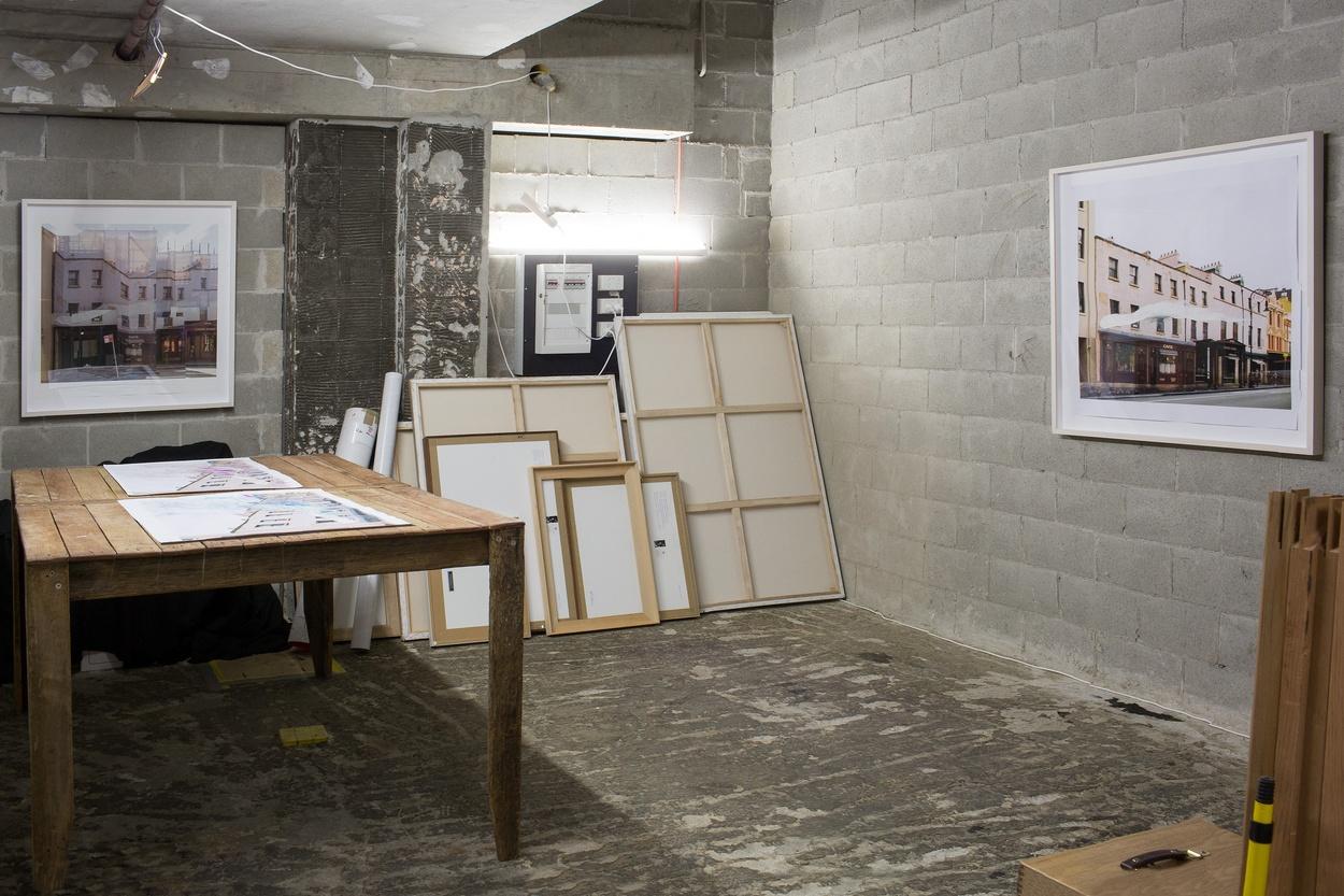 Mike Hewson: (Open studio, installation view) - Shop 25, The Rocks Square, The Rocks, Sydney
