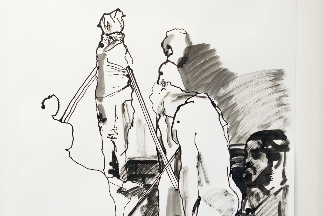 Mike Hewson: Sketch 4 (detail) - Alexis Fine Art, Christchurch, NZ