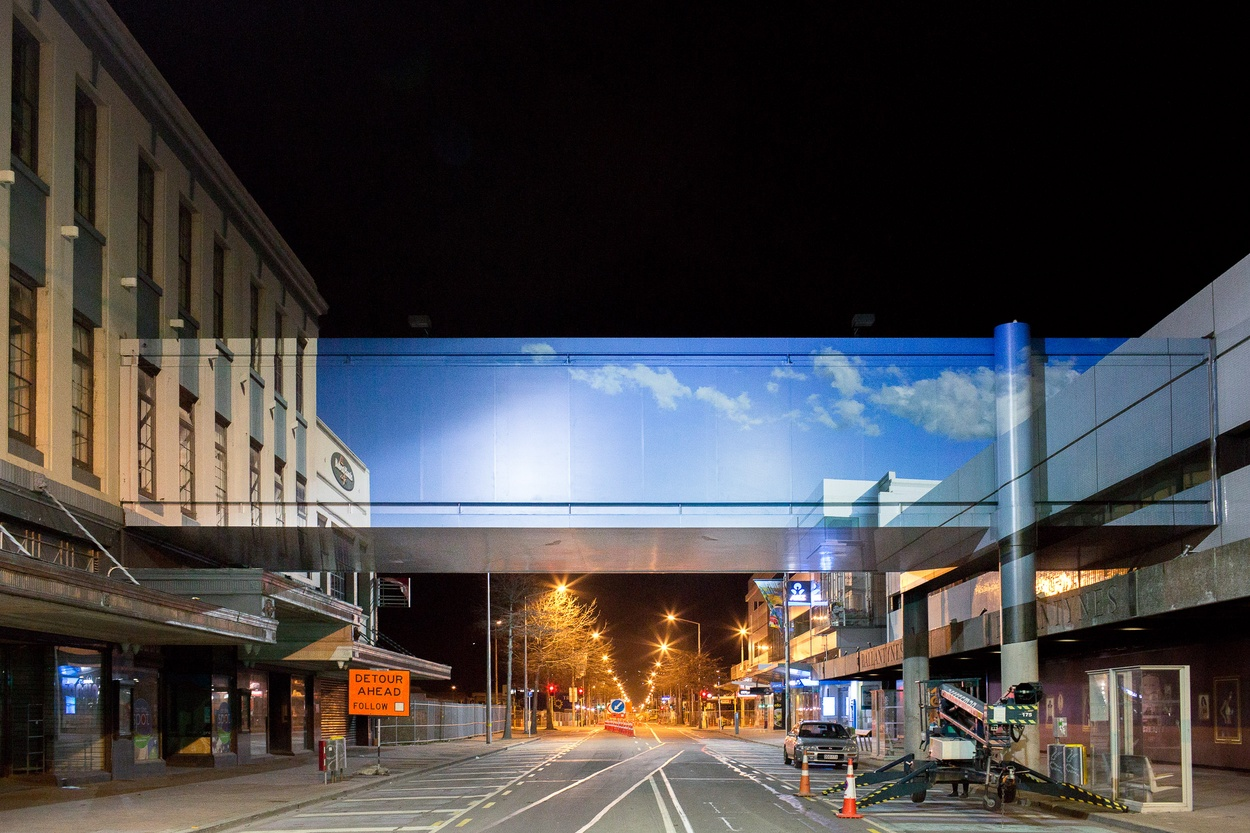 Mike Hewson: Skybridge - Cnr Cashel and Colombo Street, Christchurch, NZ