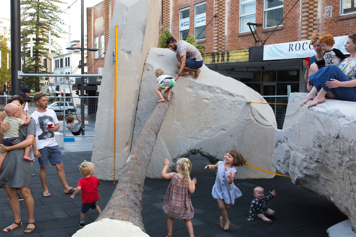 Mike Hewson: Landscape Playground (preliminary testing) - Crown Street Mall, Wollongong