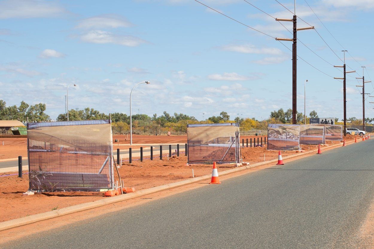 Mike Hewson: Blowing Fence III - Port Hedland, Western Australia