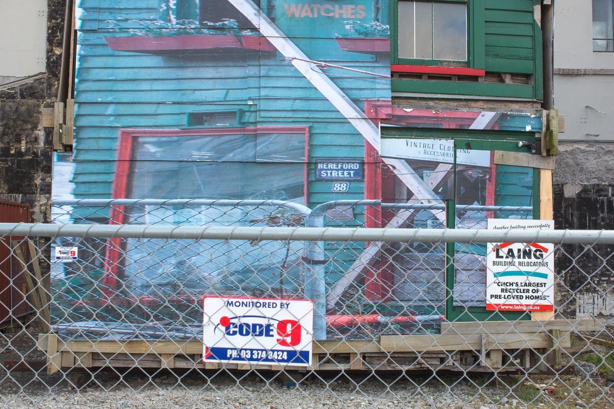 Mike Hewson: (Installation View) - Christchurch CBD, New Zealand