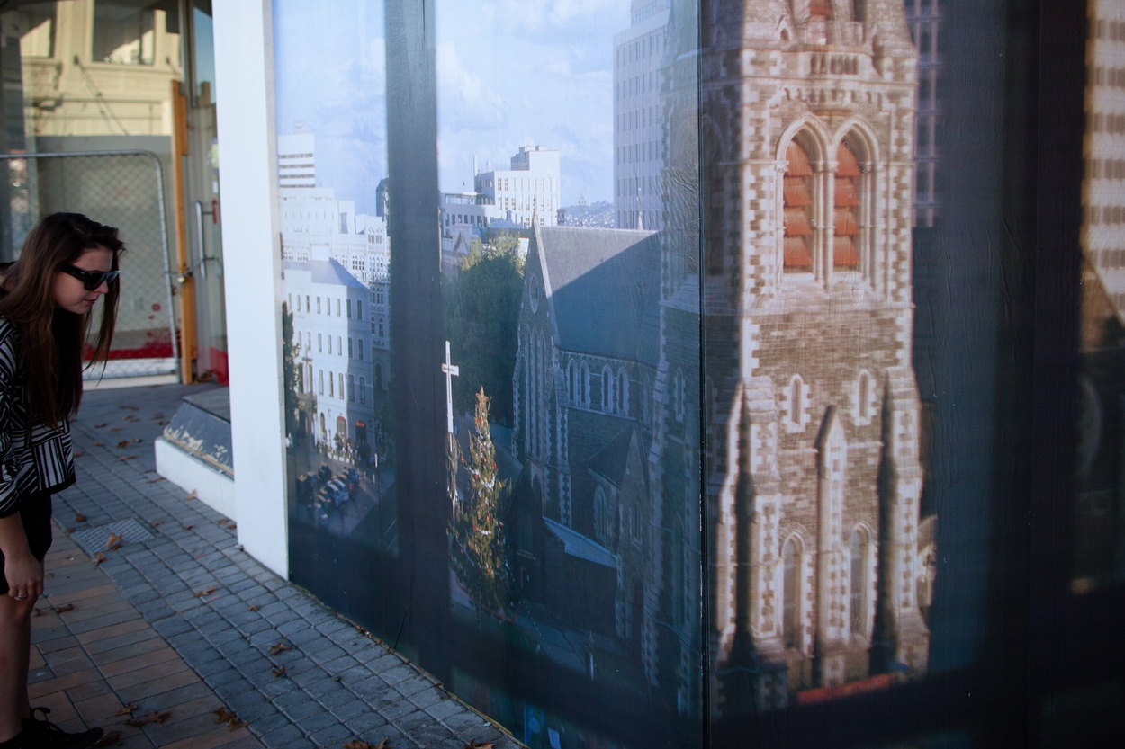 Mike Hewson: View From The Studio (Detail) - Re:START (Cashel Mall), Christchurch CBD, NZ
