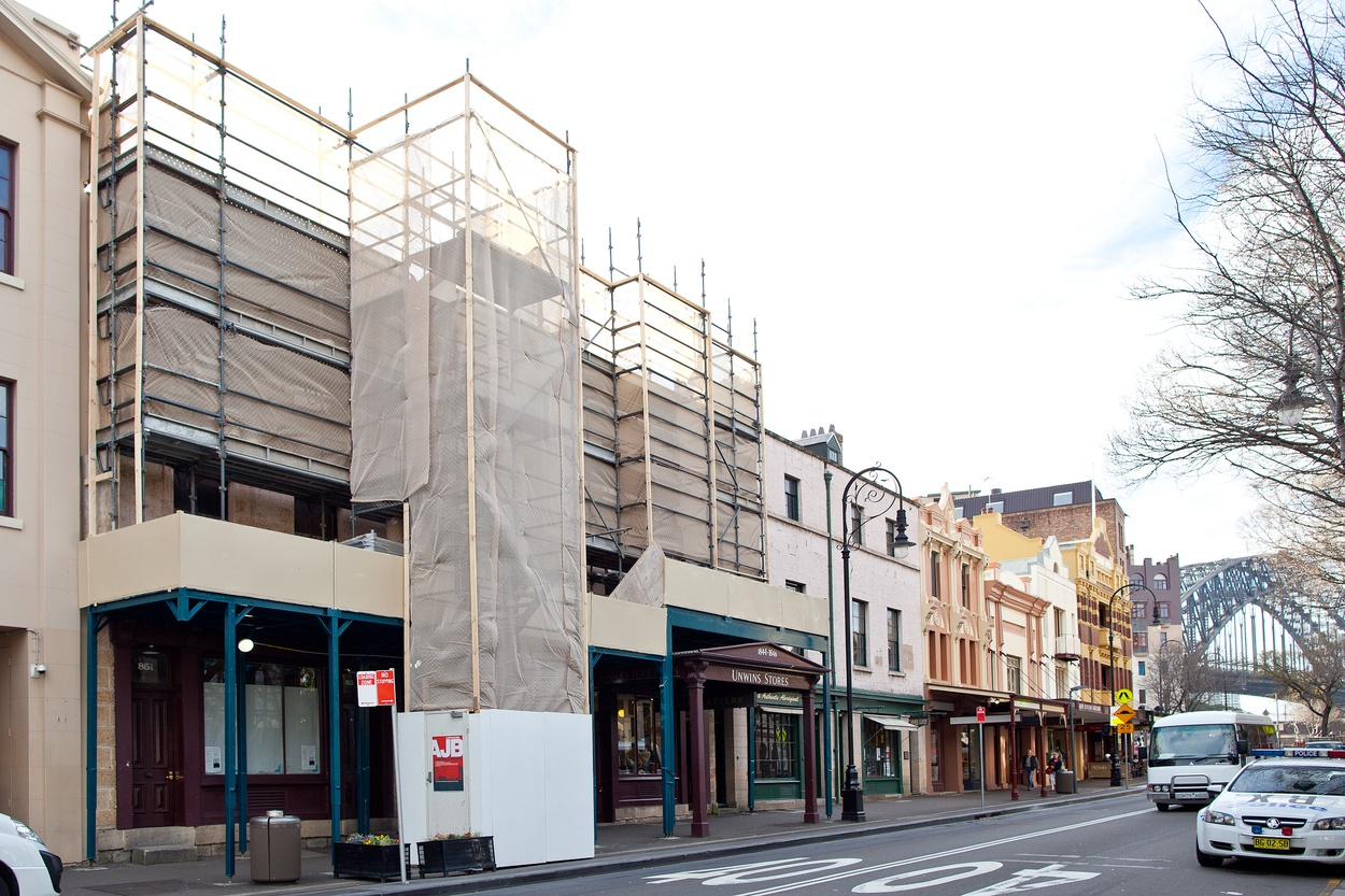 Mike Hewson: (Prior to installation) - Cnr George and Argyle Street, The Rocks, Sydney