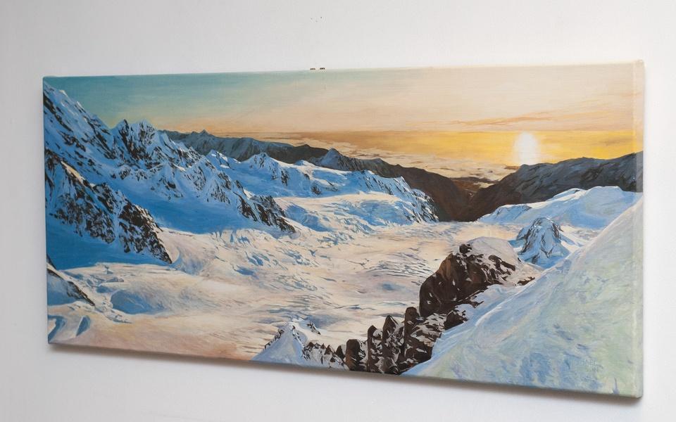 Mike Hewson: West Coast Glaciers I - Artist's studio, Cathedral Sq, Christchurch, NZ