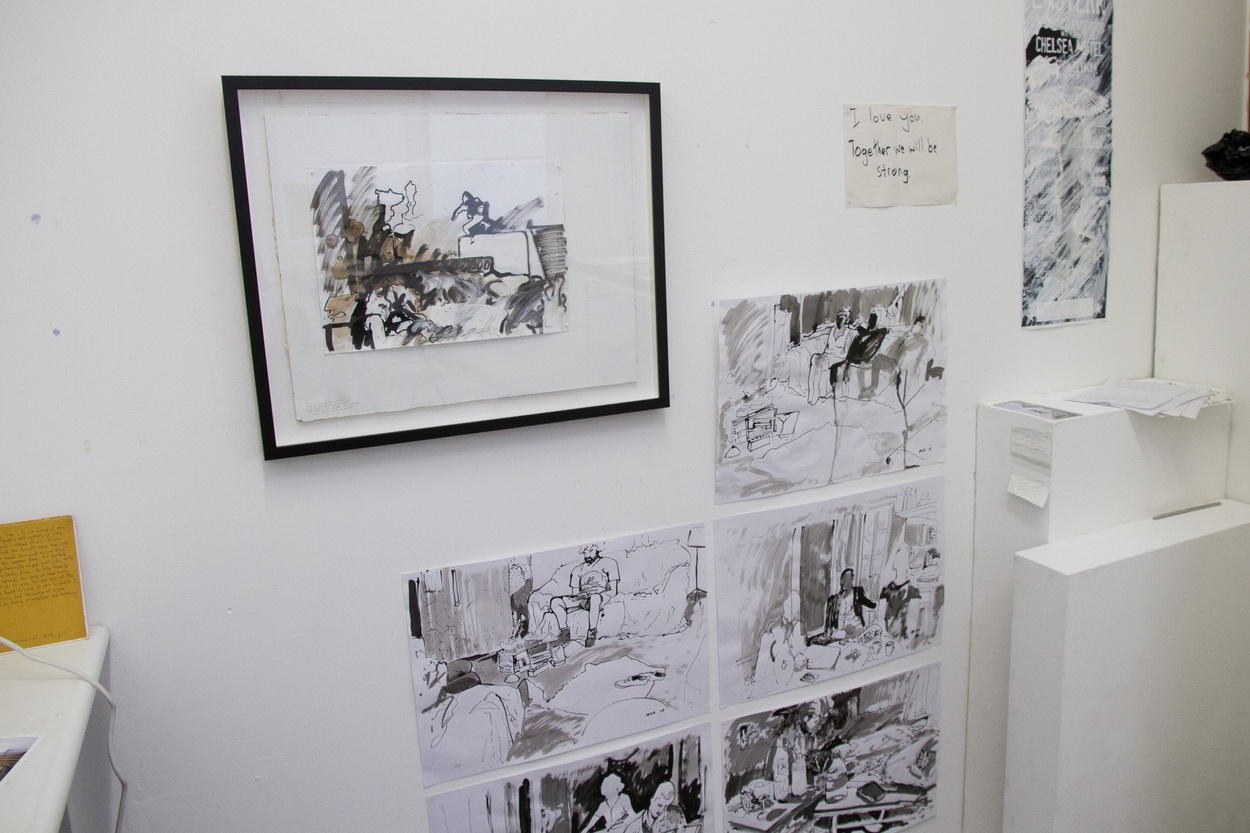 Mike Hewson: Sketch Study For Visions Of The View (Installation view) - Flinders Lane, Melbourne, AU