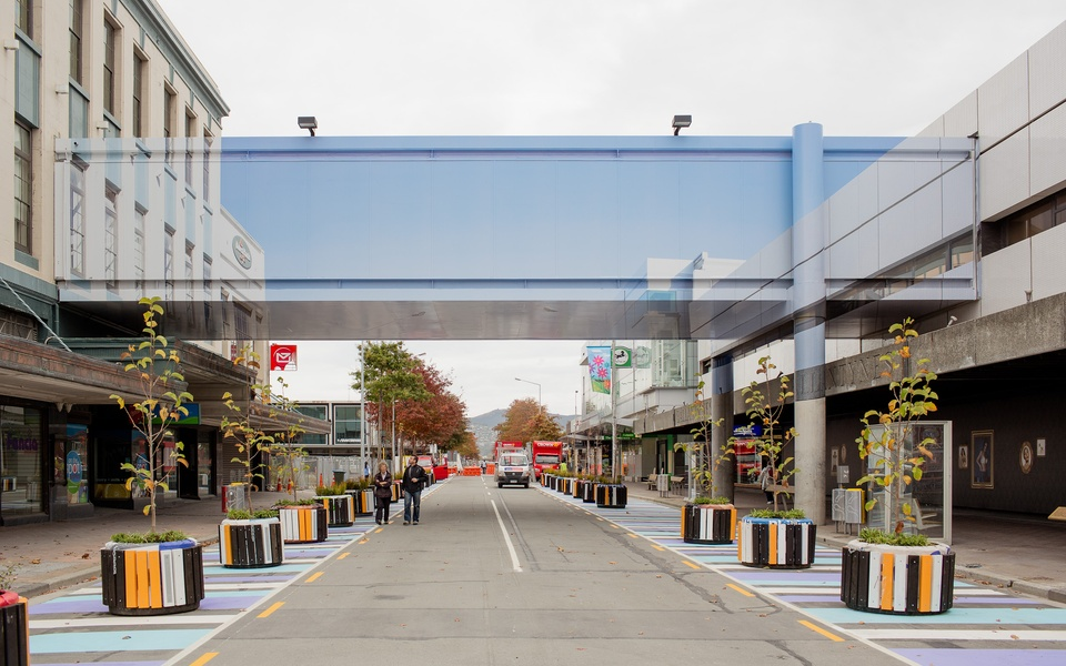 Mike Hewson: Deconstruction - Cnr Colombo St & Cashel Mall, Christchurch, NZ