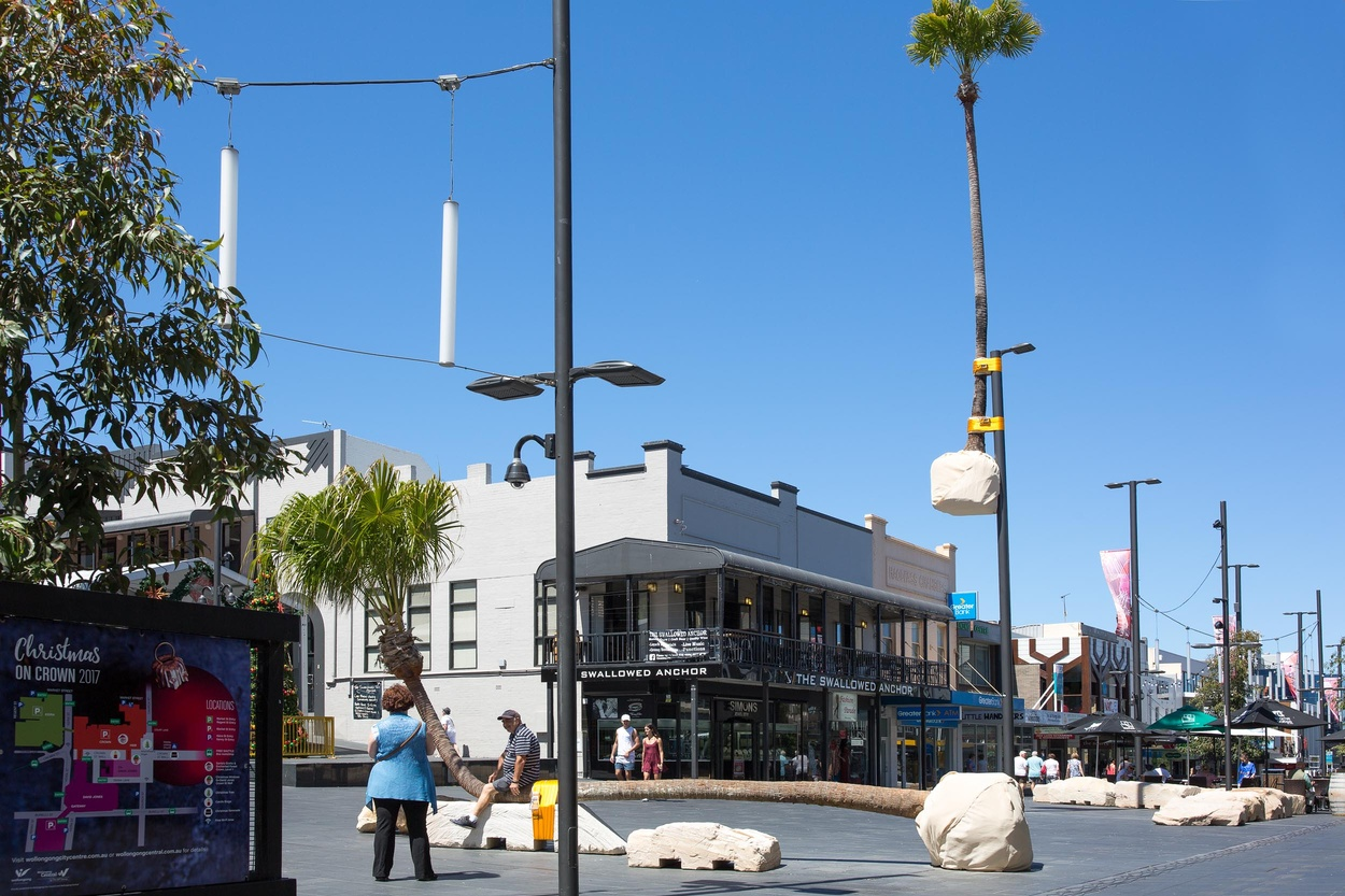 Mike Hewson: (Installation View) - Crown Street Mall, Wollongong