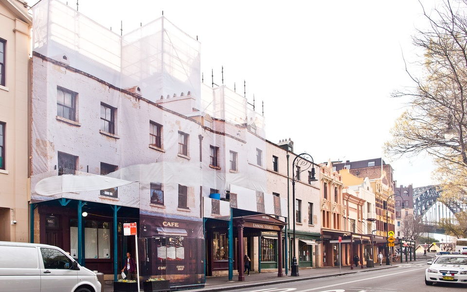 Mike Hewson: Unwin's - Cnr George and Argyle Street, The Rocks, Sydney