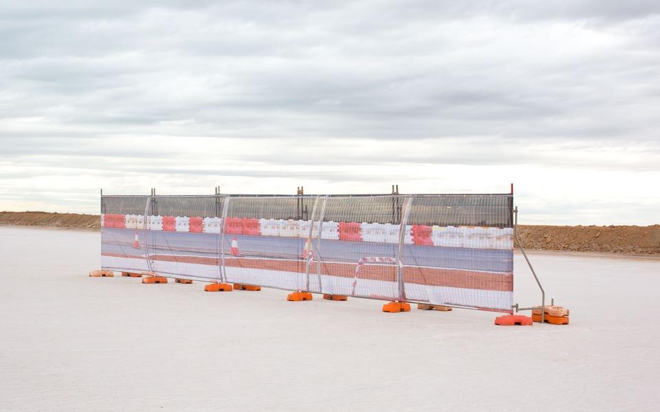 Mike Hewson: Salt Pan Fence - Port Hedland, Western Australia