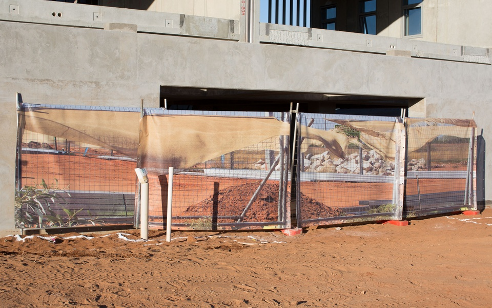 Mike Hewson: Blowing Fence II - Port Hedland, Western Australia
