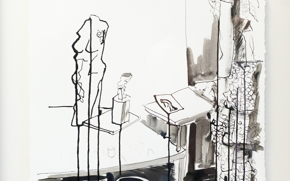 Mike Hewson: Sketch 1 (detail) - Alexis Fine Art, Christchurch, NZ