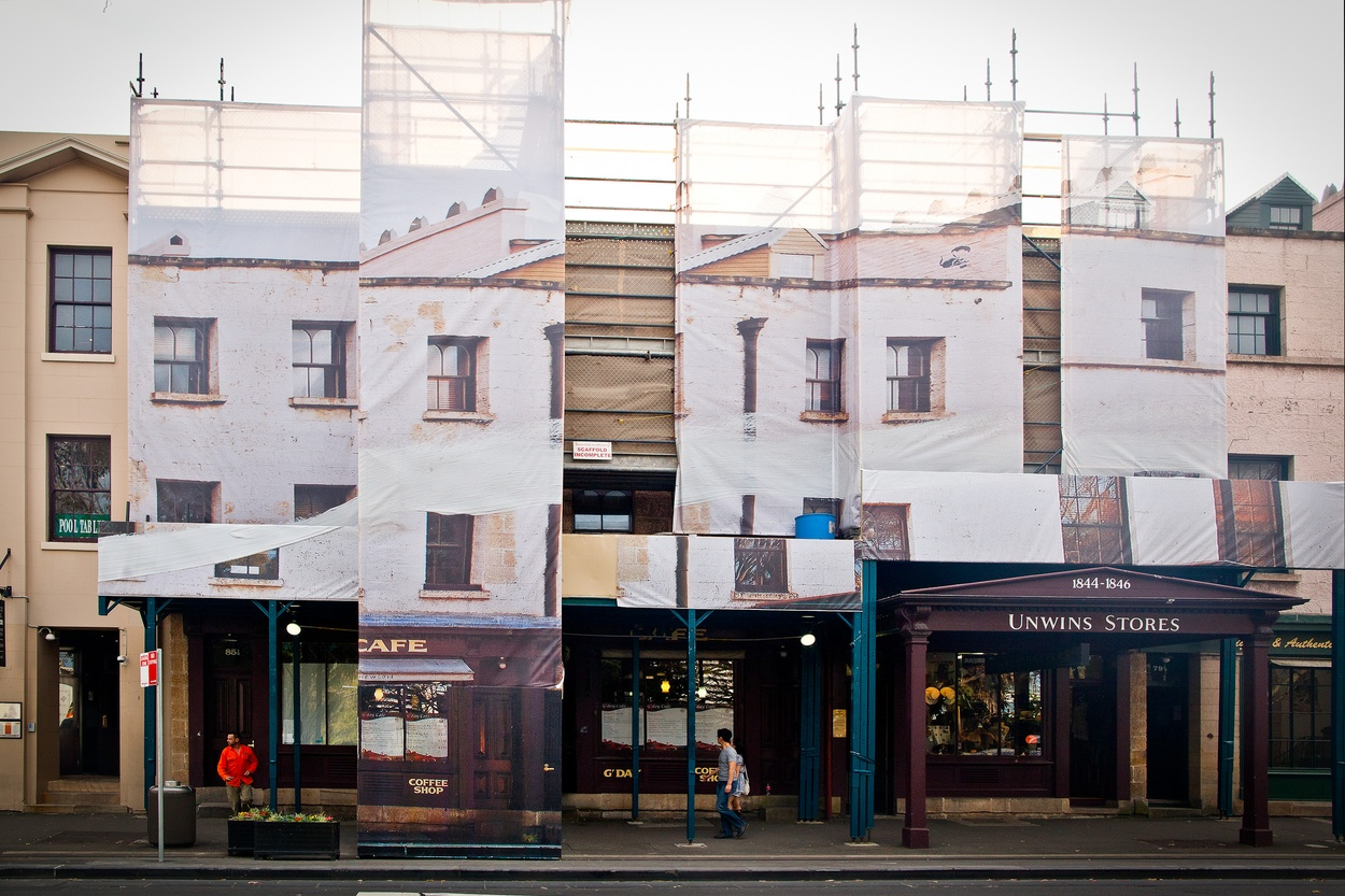 Mike Hewson: (Installation View) - Cnr George and Argyle Street, The Rocks, Sydney