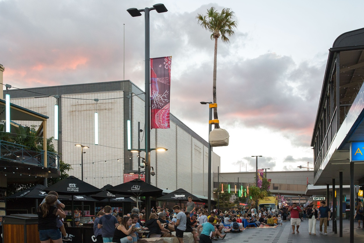 Mike Hewson: Palm pole (installation view) - Crown Street Mall, Wollongong